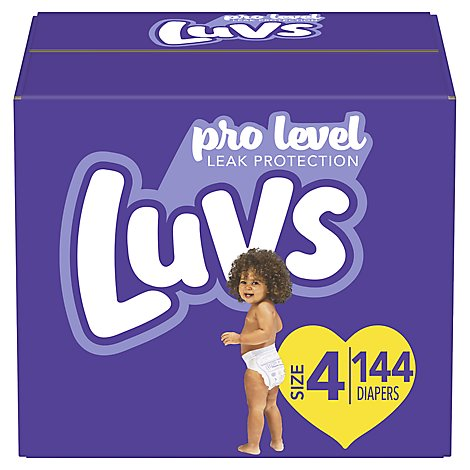 Luvs Diapers Triple Leakguards Size 4 - 144 Count