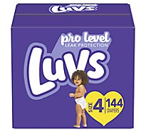Luvs Diapers Pro Level Leak Protection Size 4 - 144 Count