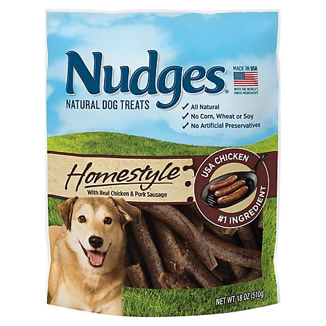 Nudges Natural Dog Treats Homestyle Made With Real Chicken And Pork Sausage - 18 Oz