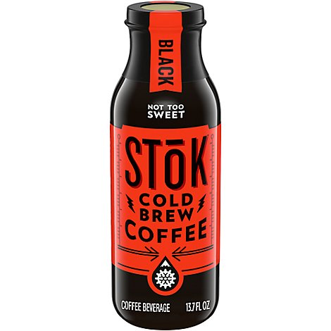 SToK Coffee Cold Brew Low & Slow Un Sweet Black - 13.7 Fl. Oz.