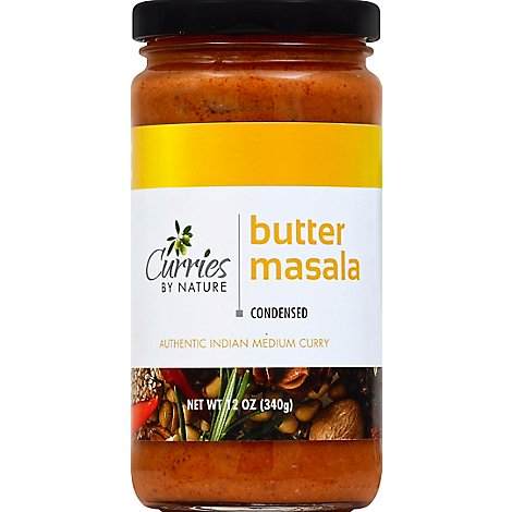 Curries By Nature Curry Authentic Indian Condensed Butter Masala Medium - 12 Oz