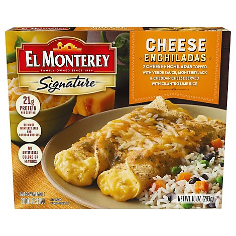 El Monterey Signature Frozen Entree Enchiladas Cheese - 10 Oz
