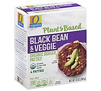 O Organics Organic Patties Black Bean Southwestern Style 4 Count - 10 Oz