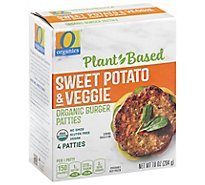 O Organics Organic Patties Veggie Sweet Potato 4 Count - 10 Oz