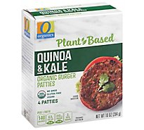 O Organics Organic Patties Quinoa & Kale 4 Count - 10 Oz