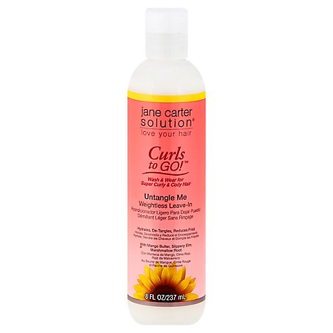 Jane Carter Solution Curls to Go! Weightless Leave In Untangle Me - 8 Fl. Oz.