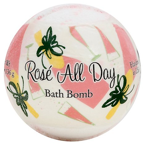 Primal Elements Rose All Day Bath Bomb - 4.8 Oz