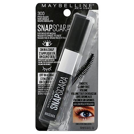 Snap Lash Washable Pitch Black - 0.34 Fl. Oz.