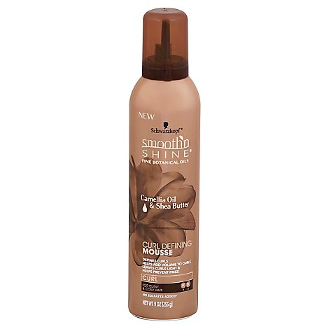 Smooth N Shine Mousse Curl Defining Curl For Curly & Coily Hair Camellia Oil & Shea Butter - 9 Oz