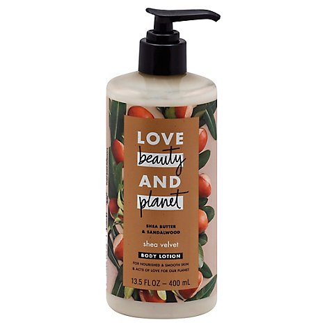 Love Beauty and Planet Body Lotion Shea Butter & Sandalwood - 13.5 Fl. Oz.
