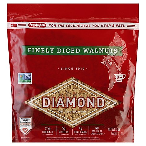 Diamond of California Walnuts Finely Diced - 10 Oz