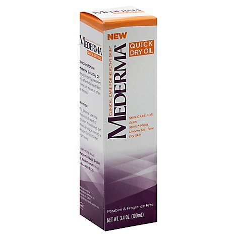 Mederma Oil Quick Dry Paraben & Fragrance Free - 3.4 Oz