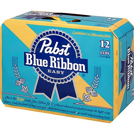 Pabst Blue Ribbon Easy In Cans - 12-12 Fl. Oz.