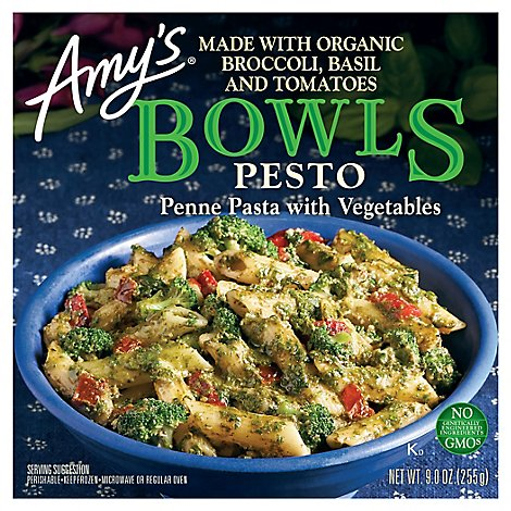 Amys Bowls Pesto Penne Pasta With Vegetables - 9 Oz