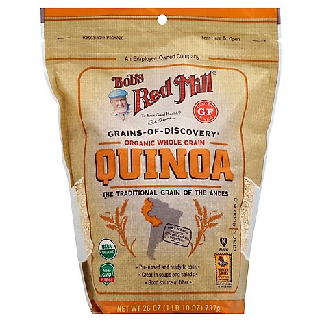 Bobs Red Mill Grains Of Discovery Organic Quinoa White Whole Grain Gluten Free Pouch - 26 Oz