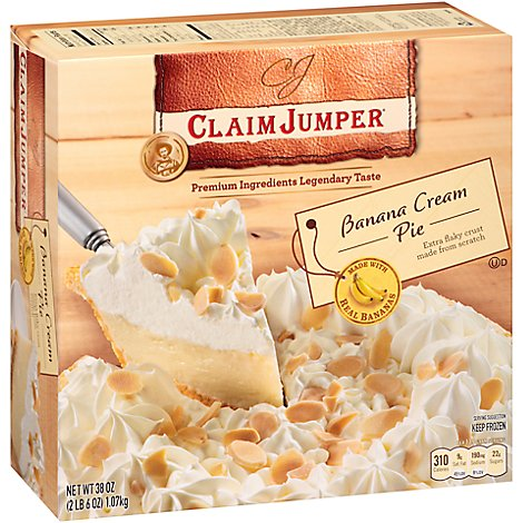 Claim Jumper Banana Cream Pie - 38 Oz