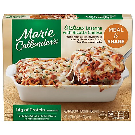 Marie Callenders Meal For Two Italiano Lasagna - 31 Oz