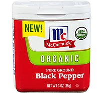 McCormick Organic Pepper Black Pure Ground - 3 Oz