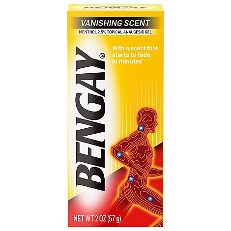 Bengay Vanishing Scent Gel - 2 Oz