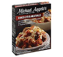 Michael Angelos Frozen Food Italian Style Baked Ziti With Meatballs - 28 Oz