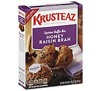 Krusteaz Muffin Mix Supreme Honey Raisin Bran - 18.25 Oz