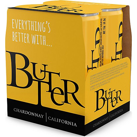 Butter Chardonnay Can Sngl Wine - 250 Ml