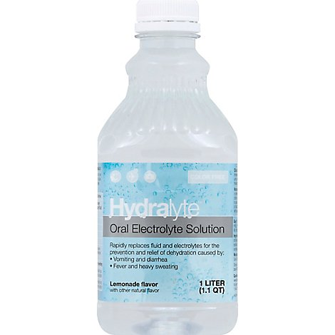 Hydralyte Oral Electrolyte Lemonade - 33.81 Fl. Oz.