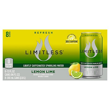 Limitless Water Sparkling Lemon Lime - 8-12 Fl. Oz.