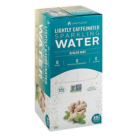 Limitless Water Sparkling Ginger Mint - 8-12 Fl. Oz.