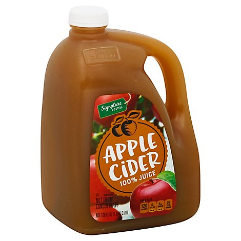 Signature Farms Apple Cider 100% Juice - 128 Fl. Oz.