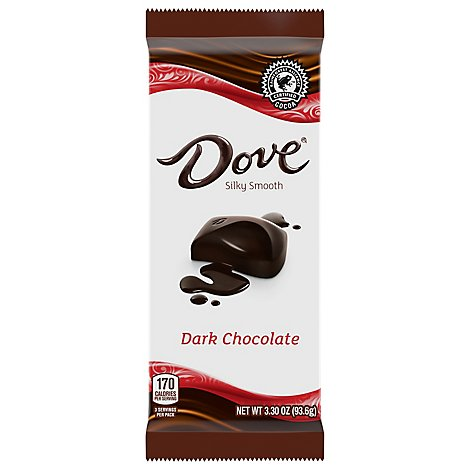 Dove Dark Chocolate Bar 3.30 Oz