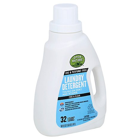 Open Nature Liquid Laundry Detergent Free & Clear - 50 Fl. Oz.