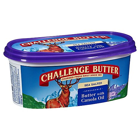 Challenge Butter Butter Spreadable With Canola Oil And Sea Salt - 30 Oz