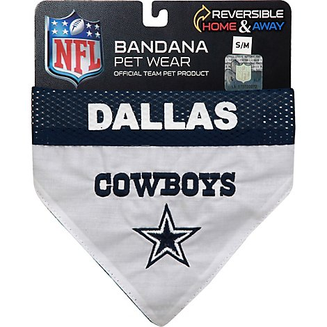 Dallas Cowboys Reversible Bandana  S-M - Each