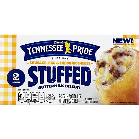 Odoms Tennessee Pride Buttermilk Biscuit Stuffed Sausage Egg & Cheddar Cheese - 2-5 Oz