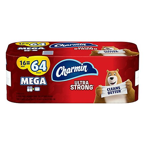 Charmin Ultra Strong Bathroom Tissue Mega Rolls 2 Ply - 16 Roll