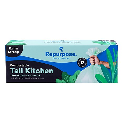 Repurpose Bag Kitchen Tall 13gal - 12 Count