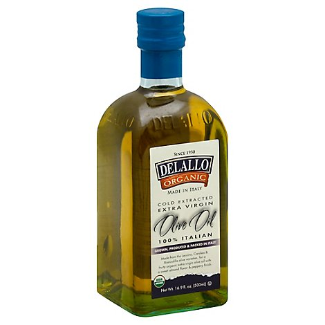 Delallo Organic Oil Olive Extra Virgin - 16.9 Oz