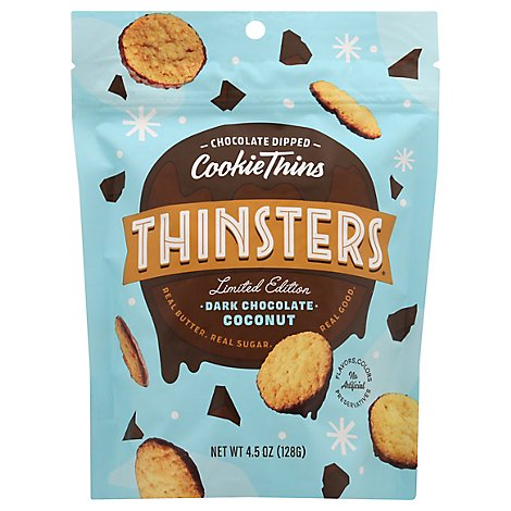 Mrs Thinsters Cookie Thin Dk Choc Cocnt - 4.5 Oz