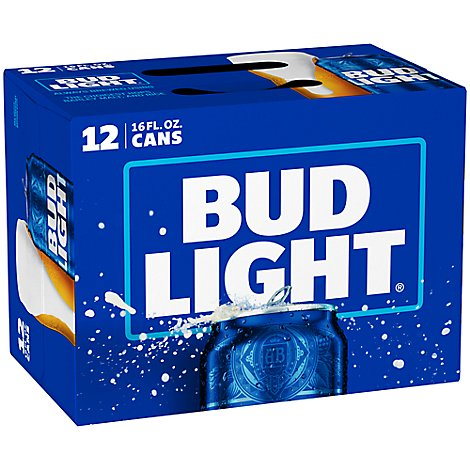 Bud Light 12 Pack 16 Fz In Cans - 12-16 Fl. Oz.