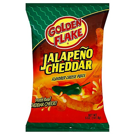 Golden Flake Puffs Cheese Jalapeno Cheddar - 5 Oz