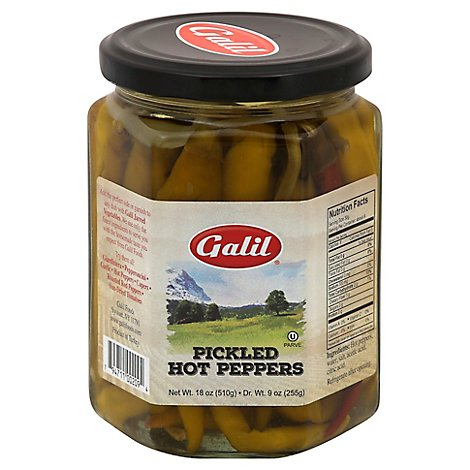 Galil Peppers Hot Pickled - 18 Oz