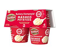 Idahoan Potatoes Mashed Buttery Homestyle Cup - 4-1.5 Oz