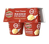 Idahoan Potatoes Mashed Four Cheese - 4-1.5 Oz