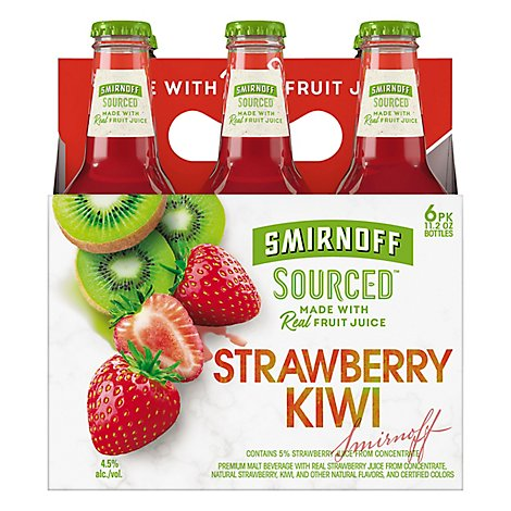 Smirnoff Sourced Strawberry Kiwi In Bottles - 6-12 Fl. Oz.