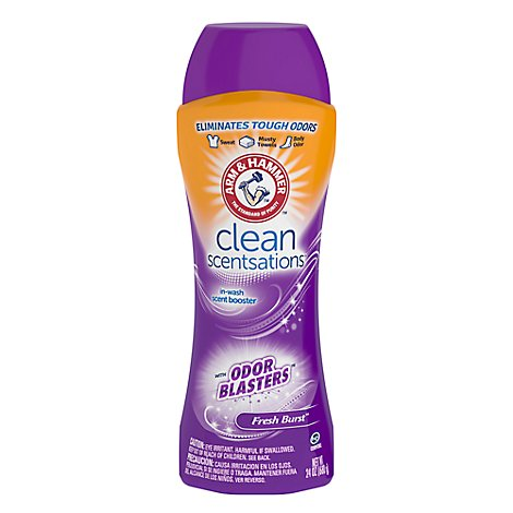 ARM & HAMMER Clean Scentsations In Wash Scent Booster With Odor Blasters Fresh Burst - 24 Oz