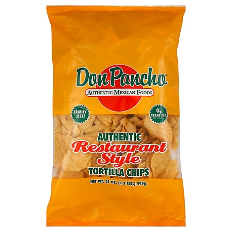 Don Pancho Tortilla Chips Restaurant Style - 21 Oz