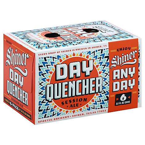 Shiner Day Quencher In Cans - 6-12 Fl. Oz.