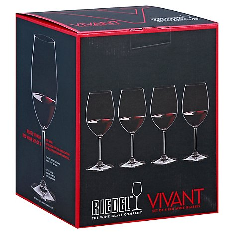 Riedel Vivant Red Wine Glasses - 4 Count