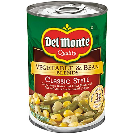 Del Monte Vegetable & Bean Blends Classic Style - 14.5 Oz